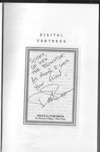 Digital Fortress Bookplate from Dan Brown